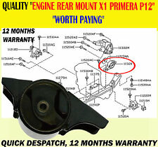 REAR ENGINE SUPPORT MOUNT MOUNTING FITS PRIMERA 1.6 1.8 2001-2006 P12 MODELS