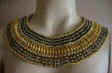 Egyptian Cleopatra Beaded Collar Necklace Mardi Gras Carnival Halloween Costume
