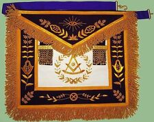 DEURA APRON MASONIC HAND EMBROIDERED GRAND LODGE PAST MASTER APRON PURPLE