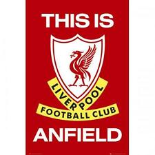 Official Licensed Football Product Liverpool Poster This Is Anfield Wall Crest