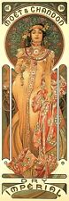 Moet & Chandon Dry Imperial Champagne Alphonse Mucha Art Nouveau Poster Print