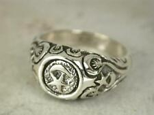 COOL STERLING SILVER CRESCENT MOON n STAR RING size 8  style# r0401