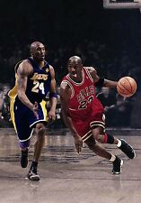 "Michael Jordan Kobe Bryant Bulls Lakers 8.5 X 11"" Poster Photo Print"