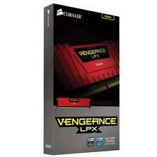 Corsair Vengeance® LPX 8GB DDR4 DRAM 2400MHz Memory Kit-Red(CMK8GX4M1A2400C16R)#