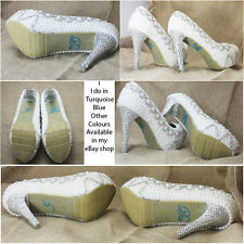 I DO Diamante Crystal Rhinestone Wedding Shoe sticker decal - Turquoise blue