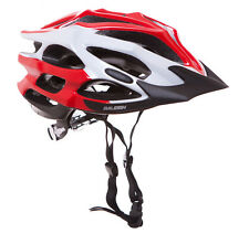 RALEIGH BICYCLE HELMET in Red, White and Black (ADULTS MEDIUM 54-58cm) New