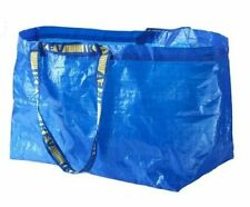 Lot of 5 IKEA FRAKTA Large Shopping Laundry Tote Grocery Storage Reusable Bags