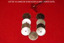 DREMEL  PROXXON LOT 10 LAMES DE SCIE CIRCULAIRE  ACIER 22 MM + TIGE OFFERTE