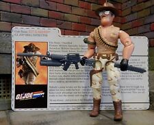 GI JOE ~ 2006 SGT SLAUGHTER ~ CONVENTION EXCLUSIVE ~ 100% COMPLETE & file card