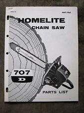 Homelite 707D Chain Saw Parts list