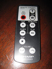 SHARP 8mm CAMCORDER REMOTE CONTROL -- G0017TA