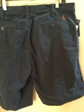 NEW RALPH LAUREN POLO CHINO SHORTS NAVY BLUE  $75  RELAXED FIT BLUE  PONY 40