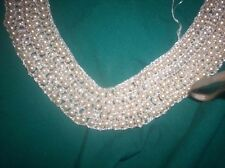 Vintage Pearl Beaded Collar make it your_self kit , Necklace ~faux~orininal box