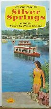 Early 1960's Silver Springs Florida vintage travel brochure and road map b