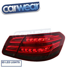 MERCEDES BENZ W212 E-CLASS SEDAN 09-13 SMOKE RED LED STYLE TAIL LIGHT AMG