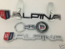 BMW ALPINA GRILLE GRILL BADGE REAR BOOT BADGE+KEYRING, TOP QUALITY, FREE POSTAGE
