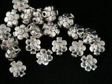 20 x 9mm Tibetan Silver Flower Beads Spacer Jewellery  Craft Beading H189