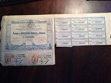 Action de 500 francs Canal de Panama - 1880