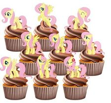 My Little Pony Fluttershy 12 Edible Cup Cake Toppers Birthday Party Decorations