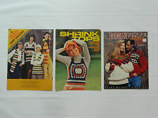 Vintage Sweater Leaflet Patterns to Crochet and Knit - Columbia Minerva + Bernat