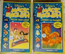 DUE VIDEOCASSETTE MAGIC ENGLISH (1/2) - VHS DISNEY