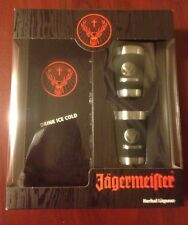 NEW Jagermeister Gift Set Box with METAL/WRAPPED Shot Glasses