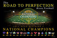 North Dakota State Bison ROAD TO PERFECTION NCAA Football Champions 2013 Poster