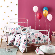 SWEET STUFF SINGLE bed QUILT DOONA DUVET COVER SET NEW LOLLIPOP CUPCAKE DONUT