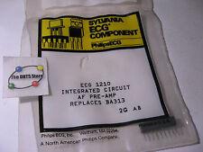 Sylvania ECG1210 IC Pre-Amplifier SIP Equivilant NTE1210 BA313 NOS Qty 1