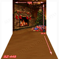 Christmas 10'x20' Computer-painted (CP)Scenic Vinyl Background Backdrop SZ448B88