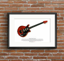 Brian May's Red Special ART POSTER A3 size