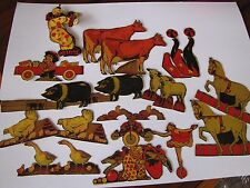 21 Vintage Post Toasties 1930's Cut-Outs Barn Yard Animals and Circus Figures