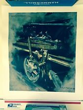 SIGNED DAVID SHEPHERD STUDY FOR OIL MUCK AND SUNLIGHT railroad train
