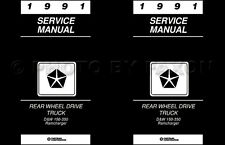 1991 Dodge Pickup Truck Repair Shop Manual D150 D250 D350 W150-W350 Ramcharger