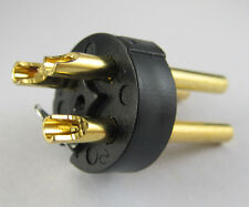 5pc x XLR Plug 3P Mic Microphone Black Connector Gold Pin