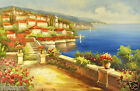 """Oil Painting On Canvas 24"""" X 36""""- Blue Seaside"""