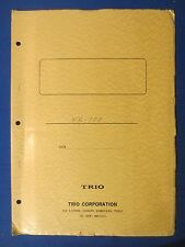 TRIO KR-100 TECHNICAL SPECIFICATIONS & SCHEMATIC ORIGINAL FACTORY ISSUE 1968