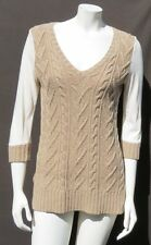 $68 PILCRO and the Letterpress Anthropologie Brown Dually Clad Sweater Top S M