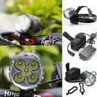 9000Lm 5x XM-L T6 LED Bicycle Bike Cycling Light Torch HeadLight HeadLamp SET