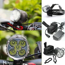 9000Lm 5x T6 LED Bicycle Bike Cycling Light Torch HeadLight HeadLamp SET