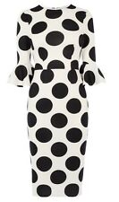 BNWT �� Coast�� Size 6 Maralynn Spot Polkadot Mono Dress XS Smart Pencil New