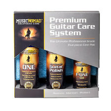 Music Nomad MN108 Premium Guitar Care Kit w/ Polish Oil Cleaner Microfiber Cloth