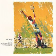 "LEROY NEIMAN BOOK PLATE PRINT ""DEUCE"" TENNIS RETURN SHOT"