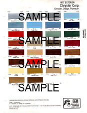1977 DODGE CHRYSLER PLYMOUTH IMPERIAL 77 PAINT CHIPS PAINT CHIPS RINSHED MASON