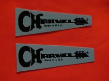 Charvel guitar neck decal BLACK Made In U.S.A. Ⓡ 2 High Quality Waterslides