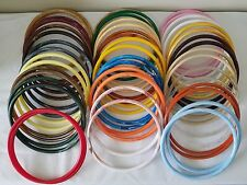 "Lot of 24 Pair Assorted Color 9"" Round Plastic Macrame Purse Handles Craft Rings"