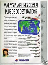 Publicité advertising 1991 Compagnie aerienne Malaysia Airlines