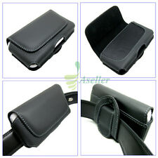 For Samsung Omnia W I8350 Galaxy W i8150 Leather Case Belt Clip Pouch Cover SKin