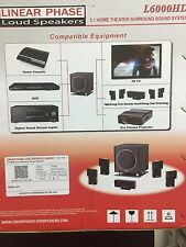 LINEAR PHASE LOUD SPEAKERS L 6000HD 5.1 HOME SURROUND SOUND SYSTEM...