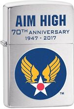 Zippo 2016 Catalog NEW Army Air Corps 70th Anniversary Brushed Chrome 29180